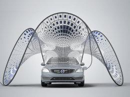 沃尔沃广州车展发布可折叠太阳能充电伞