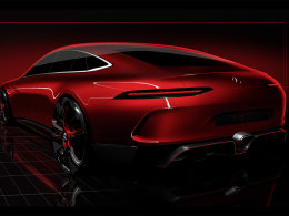 对标Panamera 奔驰AMG GT 概念图发布