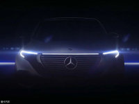 奔驰EQC最新预告图曝光 9月4日正式发布