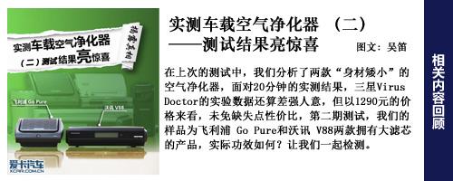 结果亮惊喜 实测车载空气净化器(二)